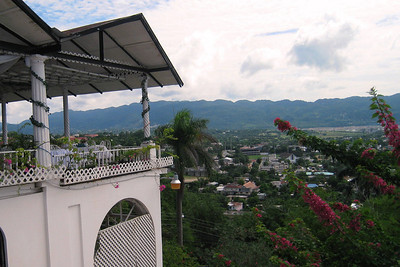 Western Caribbean Cruise – Conquest on Carnival Day 4 – Wed 11/5 – Montego Bay, Jamaica, sunny day View from Richmond Hills Inn - an old plantation mansion