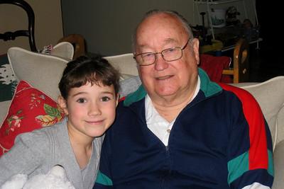 Christmas 2008 in CO - Rachel and Grandpa