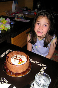 Rachel with a birthday cake sent by friends Paula and Ashlee Yates to our room at the Polynesian. It was a great surprise to a fun-filled day! Don't look at the time stamp - it was after Rachel's bed-time curfew (10 pm). Thu - 5/28/09