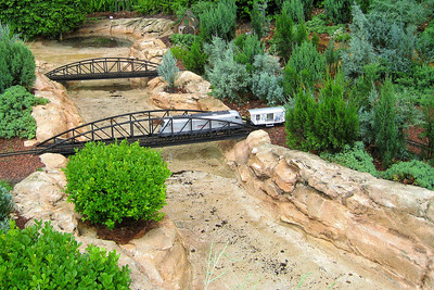 Along the way to The American Adventure we found this delightful display of a village with several running trains. Thu - 5/28/09