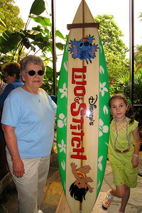 Mary Clare and Rachel joined Kathy in celebration of her birthday at Walt Disney World in Florida for a Disney 3 day Land/4 day Sea Vacation. We stayed at the Polynesian Resort where the vegetation is lush, and the architectures summons the tropics. Thu - 5/28/09