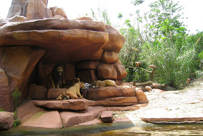 Adventureland Jungle Cruise - Grandma wanted to ride this one! Inspired in part by the 1955 documentary film The African Lion, this ten-minute adventure is one of the crowning achievements of Magic Kingdom landscape artists for the way it takes guests through surroundings as diverse as a Southeast Asian jungle, the Nile Valley, and an Amazon rainforest. Fri – 05/29/09