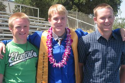Grady Roth's Graduation - King City High School - Brothers