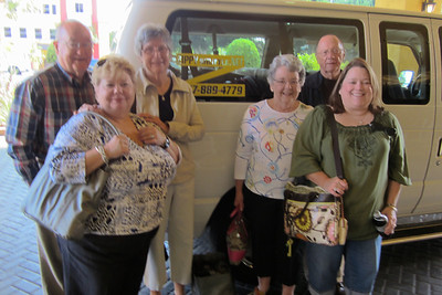 Zippy Van Day 1, Wed, 10/26, Sail Away Zane made arrangements for the Zippy Van to take us to the Cruise Terminal.