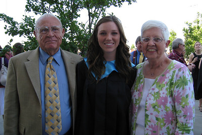 Jeni Muessig Bishop Lynch High School Graduation w/ Grandparents - Mr. and Mrs. Gray