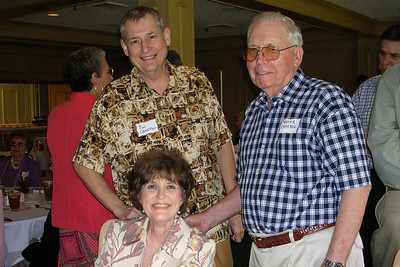 June White 80th Birthday Party Ron Cameron, Becky Matthews, and Porter Cameron