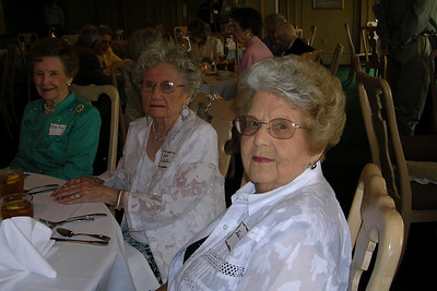 June White 80th Birthday Party Ruth King, Alice Sebastian, and Helen Porter