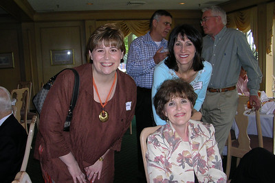 June White 80th Birthday Party Robin Houston, Debra Lankin and Becky Matthews - Allyn Giacomazzi and Bob Gee in background