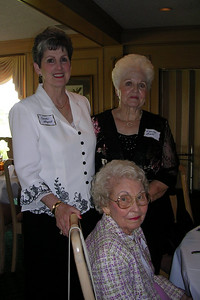 June White 80th Birthday Party Carole Shugart, Wanda Ball, Annie Laurie Newman