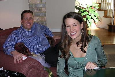 Laura Gee and Jason Matthews Wedding Shower - Bride/Groom-to-be Opening Gifts