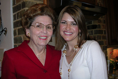Laura Gee and Jason Matthews Wedding Shower - Grandmother June and Grandaughter Julie