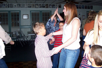 Let the Good Times Roll – 10/24/2009 - Celebrating October and November Birthdays - Katie is dancing with Kasen; Lisa is with Carson, and Caroline is with Cole