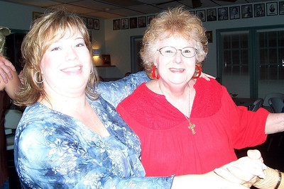 Let the Good Times Roll – 10/24/2009 - Celebrating October and November Birthdays - Myra and Lisa dancing