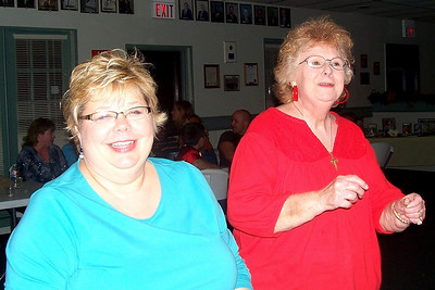 Let the Good Times Roll – 10/24/2009 - Celebrating October and November Birthdays - Cindy and Myra are dancing!
