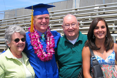 Grandparents, Graduate, and Girlfriend - the three Gs (Mary Clare, Nathan, Grady, and Brooke)