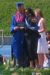 Nathan - Graduating from King City High School - with Rita (Brooke's Mom) who is the KCISD Board President