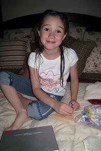 Rachel in KK's bed