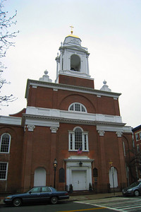 Day 2 – North End - St. Stephen's Church -  A refurbishment in 1965 restored the building's original austere details, including clear (not stained) glass windows. The bell, installed in 1805, came from Paul Revere's foundry and cost the congregation $800.