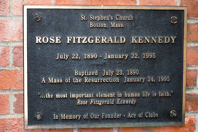 Day 2 – North End - St. Stephen's Church - Rose Fitzgerald (later Rose Kennedy) was baptized here in 1890, and her funeral took place here in 1995.