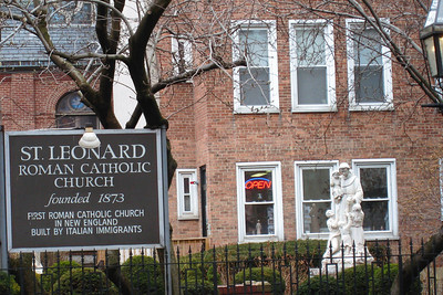 Day 2 – North End - St. Leonard Catholic Church - Founded 1873 – First Roman Catholic Church in New England built by Italian Immigrants