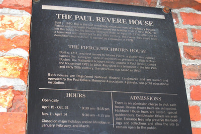Day 2 – Paul Revere House - A talented silversmith who supported a large family - he had eight children with each of his two wives - Revere played an important role in the fight for independence. As tensions between British troops and colonists escalated in the last years of colonial rule, he monitored the royal soldiers' activities and helped to keep the Americans apprised of the progress of the rebellion.