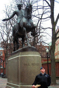 Day 2 – James Rego Square (Paul Revere Mall) - Will imitating Paul's demeanor!