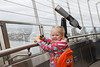 Katie at the observation deck of the Space Needle