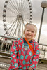 Katie in front of the Seattle Great Wheel