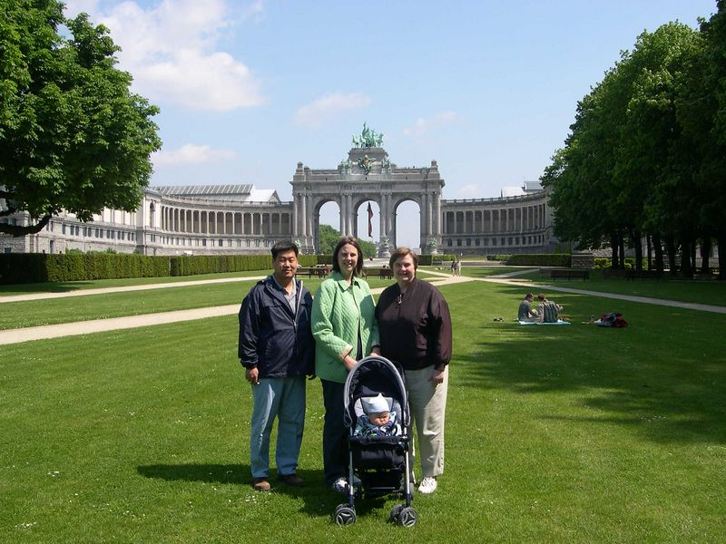 Chris, Katie, Susan and Jonathan in Cinquantenaire Park across the street from our apartment in Brussels.