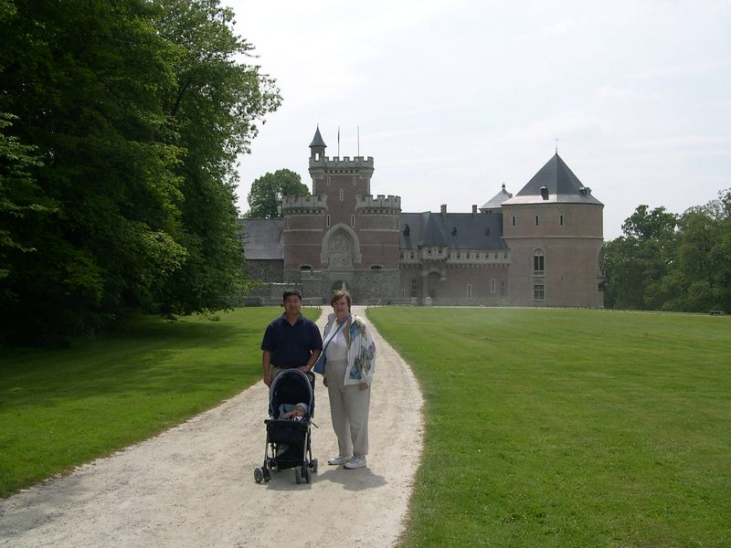 Gasbeek Castle, home of the Counts of Egmont, near Brussels.