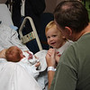 Katie meets Matthew <br /> At the hospital when Matthew was born