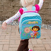 Katie's first day of preschool at Little Pilgrim School. Another backpack shot.
