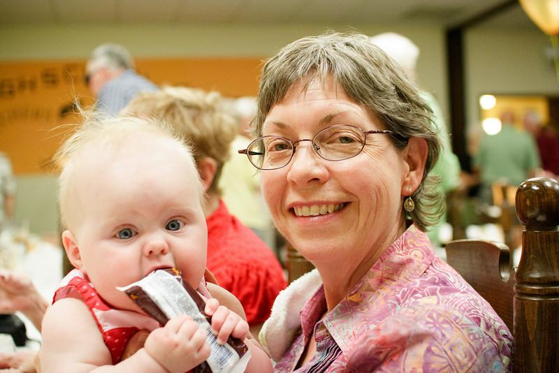 Week 30 - At the Paul High School Alumni reception with Grandma Laurie.