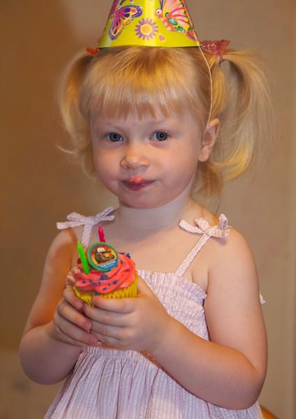 Katie's second birthday, 2006.