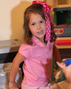 Amy at Katie's second birthday party.