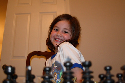 Katie's first chess game