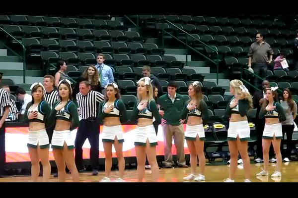 Katy Sings National Anthen at Tulane Basketball Game