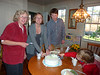 P1100091 Caroline, Katie, Andy S and Little John with Charlie's birthday cake