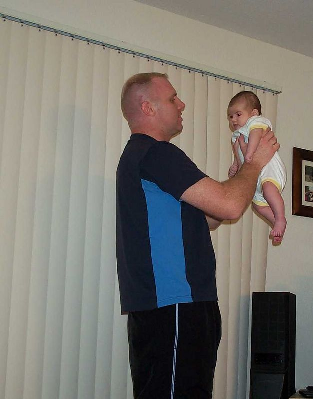 What is it about throwing babies up in the air?