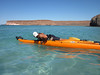 here is how you get on board the kayak English style
