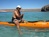 here is how you get on board the kayak Texas style