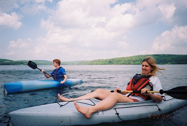 Amber and Seth Kayaking