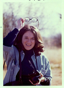 Yes, this is me, Hillary. April 1973, I was only 20 years old, but I had a camera with me! That was my first SLR, an all manual Miranda! I think this was taken in California, but I am not sure who shot the pic...one of my favorite pictures of me!