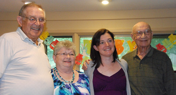 With the grandpas: Jerry and Sara Wulf, Kelly and  Sid Schwartz.