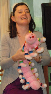 Kelly's mom brought this worm back from New York when Kelly was 7. She got it at FAO Schwartz.