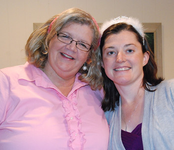 Kelly and Becky Waldron. They were cashiers together at Wohlner's.