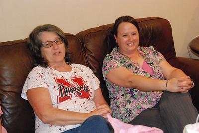 Barb Tyson, left, and Gail Lutz -- Rosanne's cousins.
