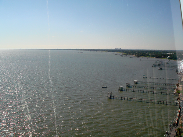 Kemah Boardwalk from the tower.