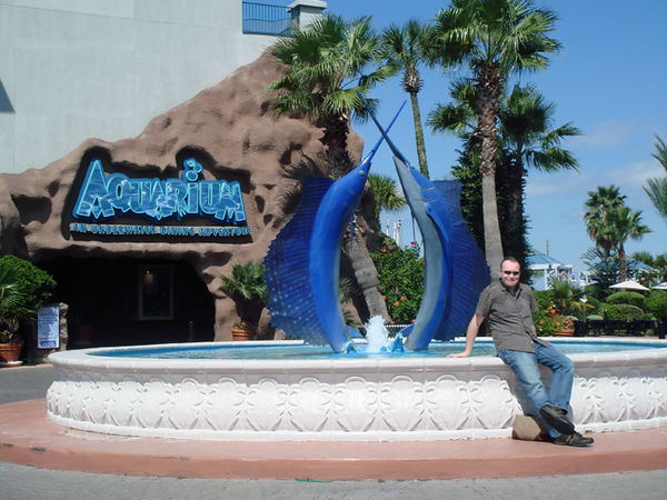 The Aquarium.  A Landry's owned restaurant.  Which means killer atmosphere, mediocre food and high prices...lol.