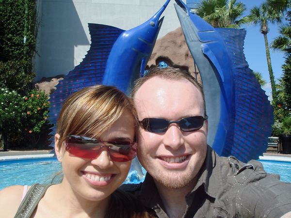 Us in front of Aquarium.